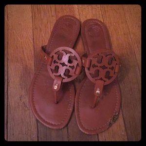 a353f1bab Tory Burch. Tory Burch Miller cognac brown leather sandal